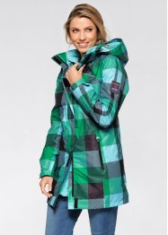 3-in-1-Outdoor-Langjacke, bpc bonprix collection, violettorchidee kariert