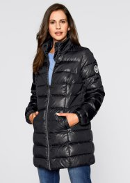 Long-Steppjacke, bpc bonprix collection, schwarz