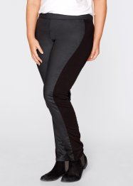 Pantalon enduit - designed by Maite Kelly, bpc bonprix collection, noir