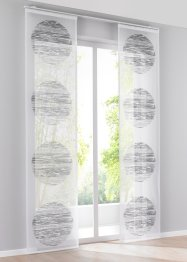 Transparente Schiebegardine mit Druck (1er Pack), bpc living bonprix collection