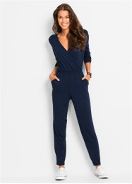 Jumpsuit, knöchellang, bpc bonprix collection, dunkelblau