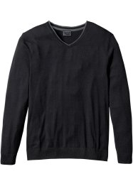 V-Pullover mit Kaschmir Regular Fit, bpc selection, schwarz