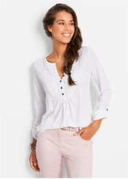 Flammgarn-Shirt, bpc bonprix collection, mittelfuchsia
