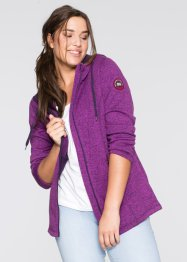 Strickfleece-Jacke, bpc bonprix collection, pfingstrose meliert