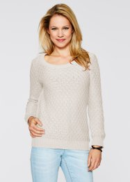 Pullover, bpc bonprix collection, wollweiss