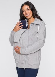 Umstands-Sweatjacke mit Babyeinsatz, bpc bonprix collection, hellgrau meliert