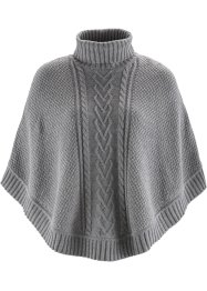Poncho, bpc bonprix collection, gris clair chiné