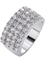 "Ring ""Zirkonia"", bpc bonprix collection, silber/weiss"