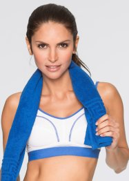 Sport-BH Level 2, bpc bonprix collection, weiss/ blau