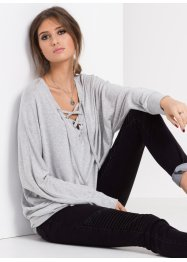 MUST-HAVE : T-shirt en maille relaxed, RAINBOW, gris clair chiné