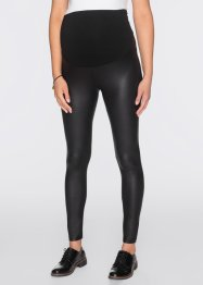 Umstandsleggings in Lederoptik, bpc bonprix collection, schwarz
