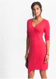 Jersey-Kleid in Wickeloptik, BODYFLIRT