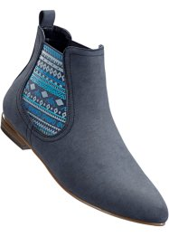 Bottines Chelsea en 2 largeurs, bpc bonprix collection, bleu