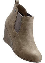 Keilstiefelette, bpc bonprix collection, taupe