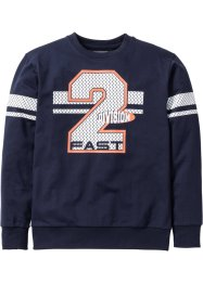Sweatshirt mit Collegedruck, bpc bonprix collection, dunkelblau