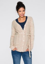 Umstandsstrickjacke, bpc bonprix collection, natur meliert