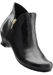 Bottines confortables en cuir, bpc selection, noir