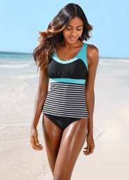 Tankini (2-tlg. Set), bpc bonprix collection, schwarz/weiss gestreift