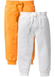 Lot de 2 pantalons sweat, bpc bonprix collection, blanc cassé+nectarine