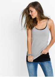 Extra langes Top mit Spitze (2er-Pack), RAINBOW, weiss + vintagerosa