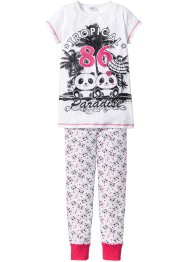 Pyjama (2-tlg. Set), bpc bonprix collection, weiss/schwarz