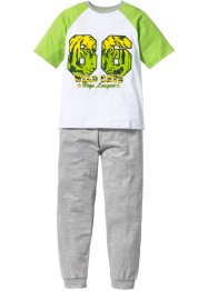 Pyjama (2-tlg. Set), bpc bonprix collection, grün/weiss