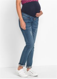 Umstandsjeans Boyfriend, gekrempelt, bpc bonprix collection, blue stone