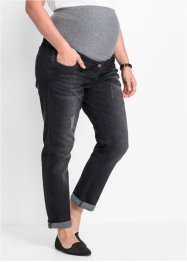 Umstandsjeans Boyfriend, gekrempelt, bpc bonprix collection, black stone