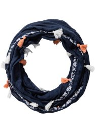Loop mit Quasten, bpc bonprix collection, dunkelblau