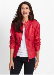 Lederimitat-Jacke, bpc bonprix collection, rot