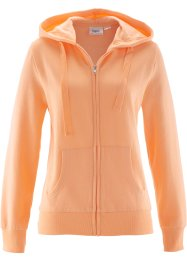 Sweatjacke, bpc bonprix collection, aprikose