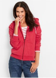 Sweatjacke, bpc bonprix collection, rot meliert