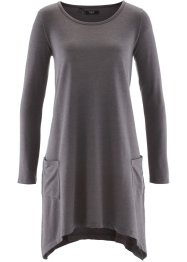 Robe sweat manches longues, bpc bonprix collection, anthracite chiné