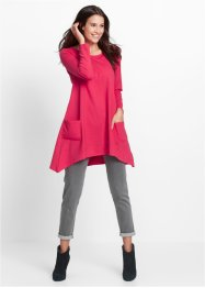 Sweatkleid, Langarm, bpc bonprix collection, hibiskuspink meliert