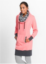 Sweatkleid, langarm, bpc bonprix collection, neonlachs