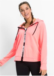 Funktions-Sweatjacke, langarm, bpc bonprix collection, neonlachs