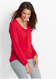 Langarm-Shirt, bpc bonprix collection, rot
