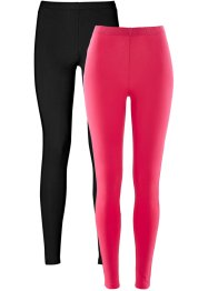 Stretch-Leggings, bpc bonprix collection, hibiskuspink+schwarz