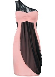 One-Shoulder-Kleid, BODYFLIRT, schwarz/pink