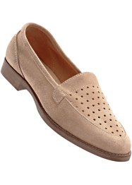 Lederslipper, bpc bonprix collection, camel (tan)