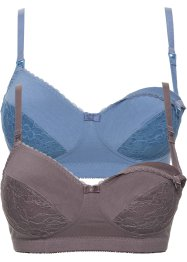 Still-BH (2er-Pack), bpc bonprix collection, blau+taupe