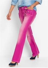 Stretch-Jeans BOOTCUT, John Baner JEANSWEAR, mittelfuchsia used
