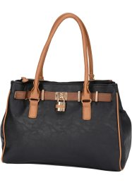 Handtasche Business, bpc bonprix collection, schwarz/braun