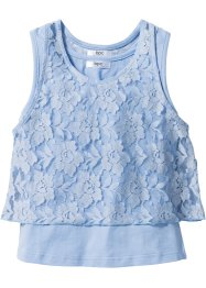 Top mit Spitze, bpc bonprix collection, perlblau