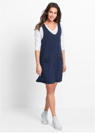 Sweat-Kleid, bpc bonprix collection, dunkelblau meliert