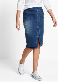 Jeansrock mit Schlitz, bpc bonprix collection, blue stone