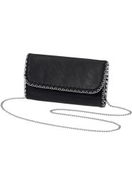Clutch, bpc bonprix collection, schwarz/silberfarben