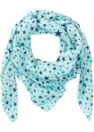 Tuch mit Sternenprint, bpc bonprix collection, blaupetrol