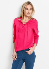 Shirt, Langarm, bpc bonprix collection, hibiskuspink