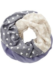 Loop mit Herzchen, bpc bonprix collection, grau/blau